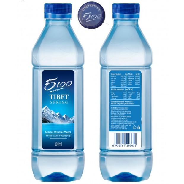 [原箱] 500ml方瓶 - 5100天然礦泉水 (24瓶/箱)