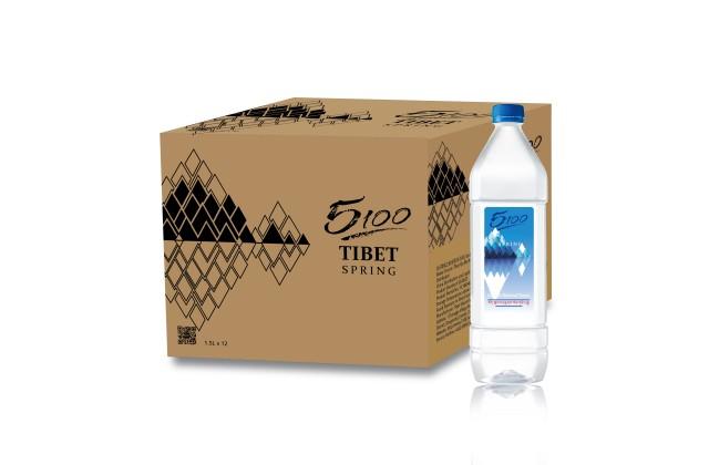[原箱] 5100西藏天然冰川礦泉水 - 1500毫升x12